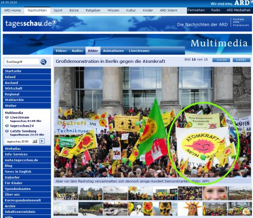 Die Heilbronner Banner vor dem Reichstag