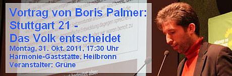 Vortrag Boris Palmer in Heilbronn