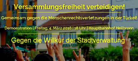 Versammlungsfreiheit in Heilbronn verteidigen - Blickfang