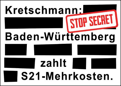 Kretschmann stop secret - Postkarte vorn