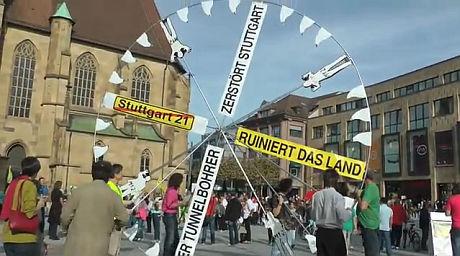 Tunnelbohrerdemo Heilbronn - Tunnelbohrer auf dem Kiliansplatz